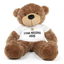 engraved teddy bears big mocha brown cuddles 48 inch personalized teddy with