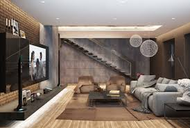 modern living room design with dark color concept roohome