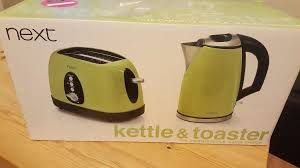 Next Toaster New Never Been Used Next Lime Green Kettle And Toaster Selling
