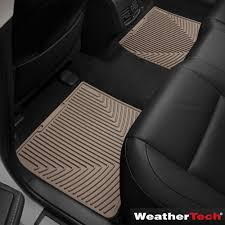 the weathertech laser fit auto floor mats front and back