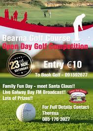 open day poster bearna golf club galway golf club connemara