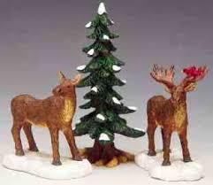 lemax christmas 32725 mr and mrs moose set of 3 lemax christmas