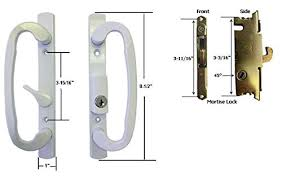 Patio Slider Door Sliding Glass Patio Door Handle Set With Mortise Lock White