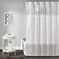 gray bathroom decor curtain creates a glittering atmosphere for your bathroom with