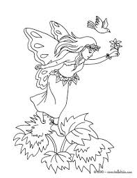 fairy sleeping flower coloring pages hellokids