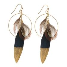 feather earrings online gold circle feather earrings feather earrings women s boutique