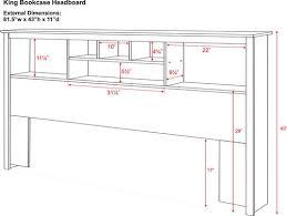 prepac sonoma collection king size storage headboard walmart canada