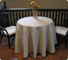 Round Kitchen Table Cloth by The Perfect Round Burlap Tablecloth A Ballard Designs Knock Off