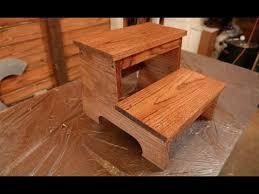 Free Wood Step Stool Plans by Create Your Own Wooden Step Stool Youtube