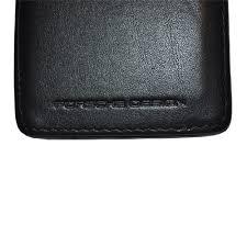 porsche design p3300 porsche design p 3300 plain leather debossed icon for