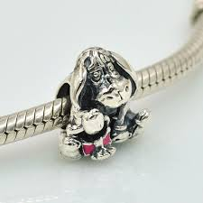 necklace making charms images 925 sterling silver eeyore charm bead with enamel fits pandora jpg