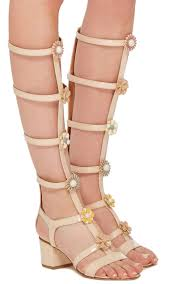 moda operandi lally tall gladiator sandals with embellished florals