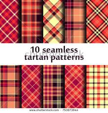 tartan pattern set seamless tartan pattern stock vector 753873844 shutterstock