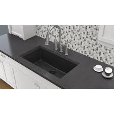 home depot black sink elkay elkay by schock undermount quartz composite 33 in single bowl