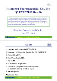 Seeking Pl Hisamitsu Pharmaceutical Co Ltd 2018 Q3 Results Earnings