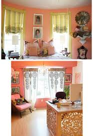 Yellow Walls What Colour Curtains 10 Rooms Peach U0026 The Return Of Pastels