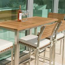 Teak Bar Table Vogue Teak And Stainless Steel Bar Table Set For 4 Westminster
