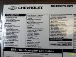 2008 chevrolet corvette coupe window sticker photo 61090382