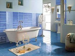 Nautical Bathroom Decor by Beach Themed Home Pinterest For Blue Beach Bathroom Decor The