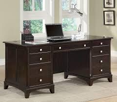Office Desk Pedestal Drawers Coaster Fine Furniture 801012 Garson Double Pedestal Desk With 7