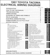 1997 toyota tacoma pickup wiring diagram manual original