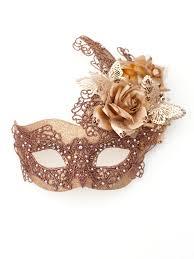 mascarade mask unique bronze butterfly floral venetian mask