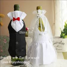 used wedding supplies 10sets wedding decorations new 2016 hot and groom dress wine