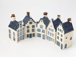 historical ceramic houses in delft china stock image image