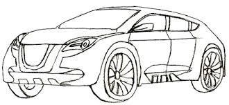 how to draw a car draw step by step