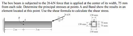 the box beam is subjected to the 26 kn force that chegg com