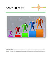 sales report template free business templates