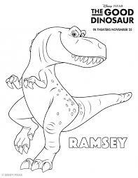 Good Dinosaur Coloring Sheets Highlights