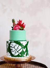Tropical Themed Cake - tropical fall wedding inspiration florida wedding 100 layer cake
