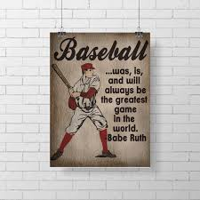 Etsy Vintage Home Decor by Sport Print Vintage Baseball Print Kids Room Decor