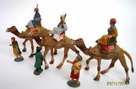 imagenes de los reyes magos y sus animales figuras plastico vintage belen nacimiento rey comprar figuras de