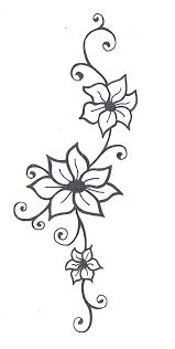 flower with vines tattoo designs tattoo fantastic