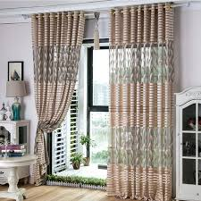 Striped Living Room Curtains by Gray Leaf Striped Jacquard Polyester Insulated Living Room Curtains