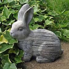 rabbit garden rabbit garden ornament statue 20 cm grey bunny 2 1kg moulded