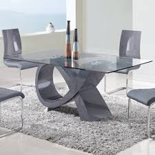 global d989dt 5 piece rectangular glass dining room set beyond