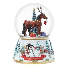 breyer holiday series musical snow globe at toystop