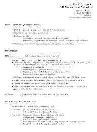 resume exles for 3 resume exle for a 3 d modeler animator susan ireland resumes