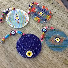 evil blue eye glass mosaic glass charm wall decoration turkey
