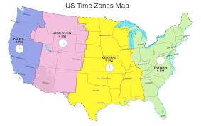 map showing time zones in usa ywuwox map of time zones in canada us time zone map florida