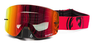 motocross goggles clearance dragon new mx nfxs frameless red black split ionized tinted