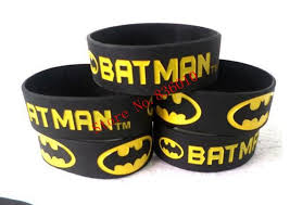 batman gift wrap new 50 pcs popular batman wristband silicone promotion gift filled