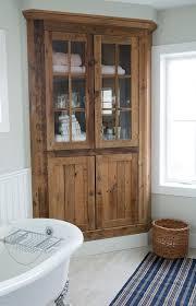 Corner Cabinet For Bathroom Storage Kitchen The Most Corner Linen Tower Foter Intended For Cabinets