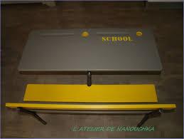 bureau écolier relooké bureau ecolier gris et jaune l atelier de nanouchka