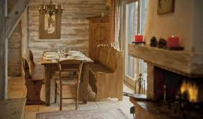 rustic dining room idea for small spaces with wooden furniture