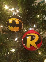 batman and robin set of 2 ornaments by kaleycrafts on etsy for
