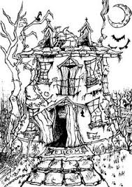 coloring pages horror movies google art